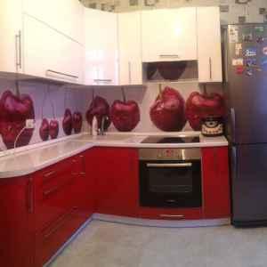 фотодрук на склі кухонний фартух