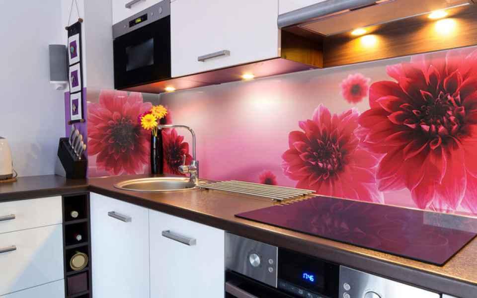 цветной кухонный фартук
