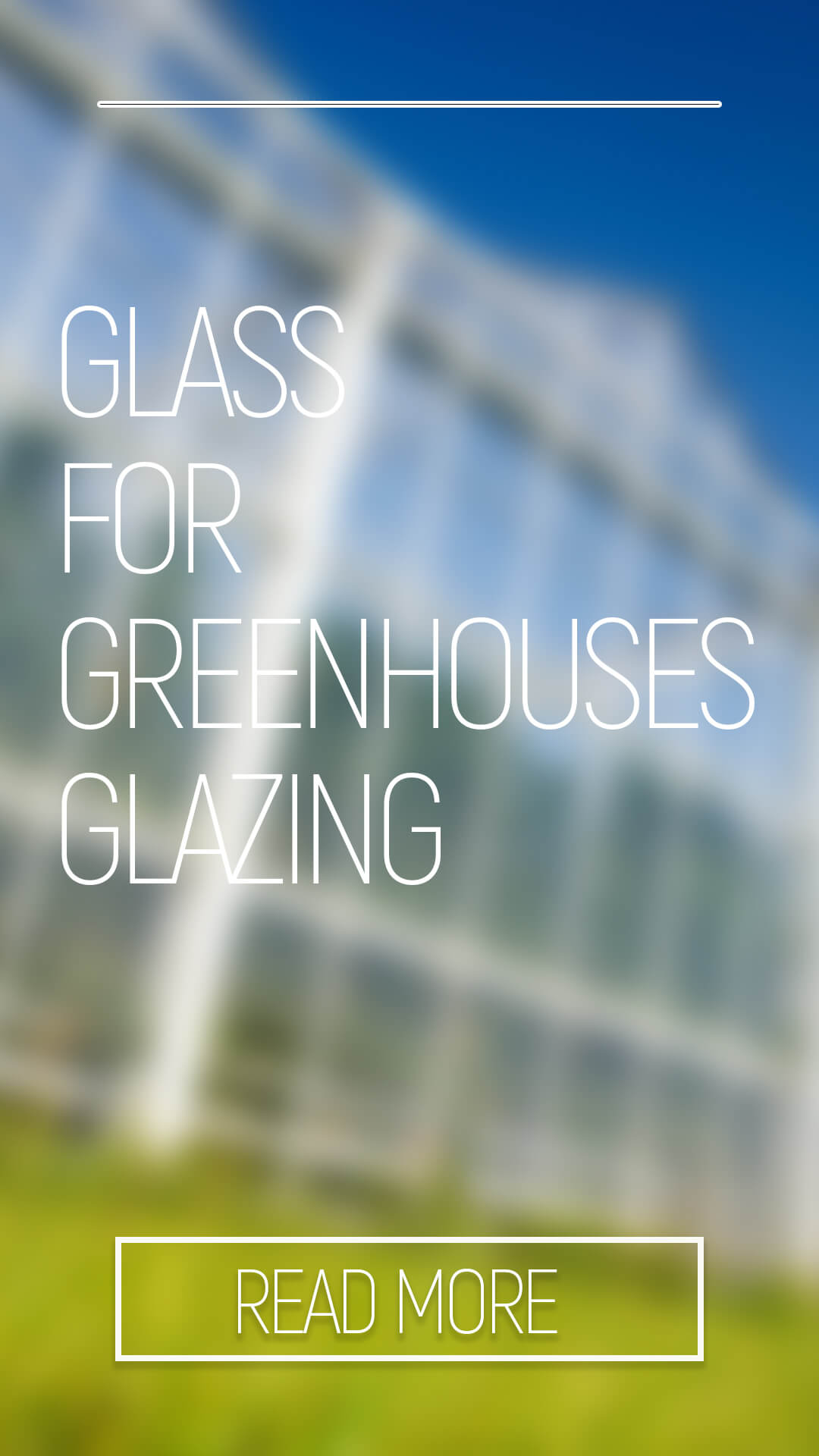 GLASS FOR GREENHOUSES GLAZING