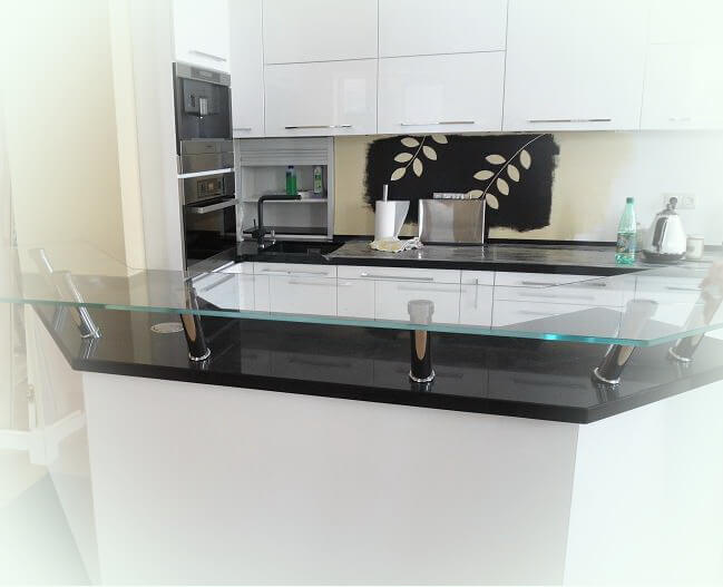 glass tables, table tops, bar tops